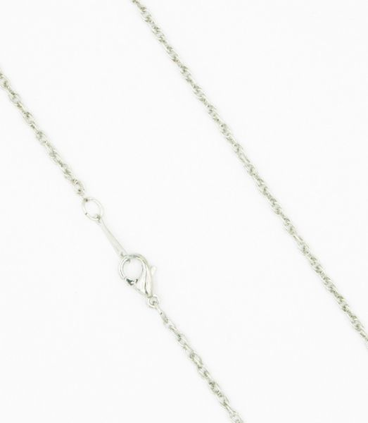 Ready made rope chain - rhodium 18 inches